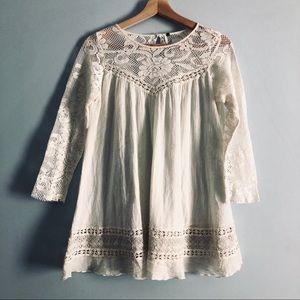 FP Cotton Lace Boho Blouse